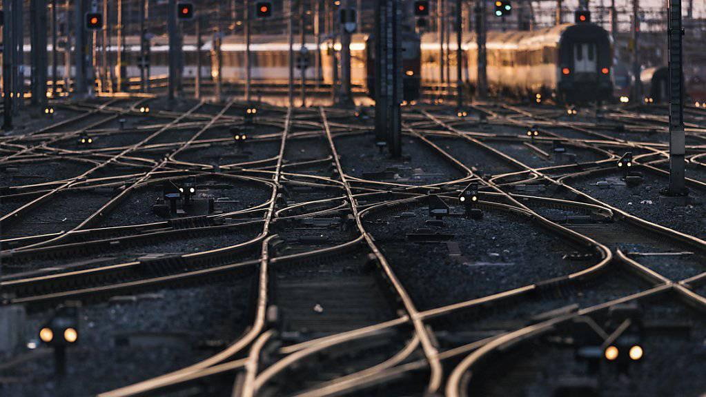 Gleise am Hauptbahnhof Zürich: Gleisverwerfungen durch Hitze können zu Problemen im Schienenverkehr führen. (Archivbild)