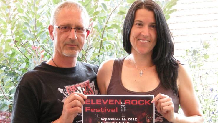 Patrick Becker und Andrea Gurtner haben «Eleven Rock» auf die Beine gestellt.