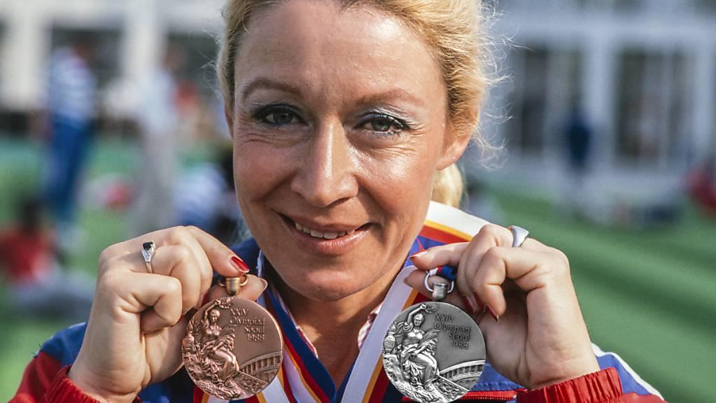 Auch bei den Olympischen Sommerspielen in Seoul gewann Christine Stückelberger zwei Medaillen.