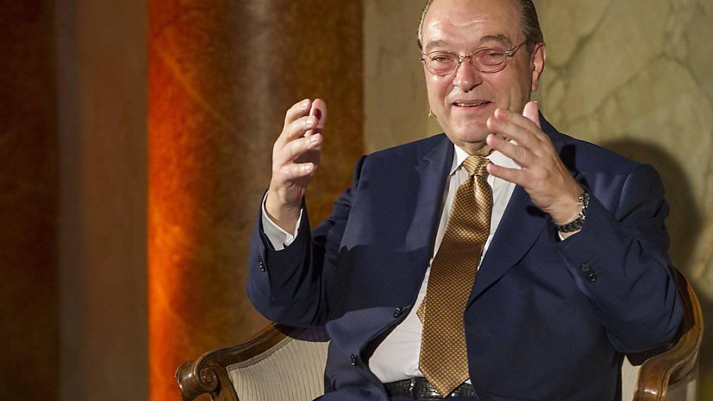 «Heute trägt mehr und mehr der Staat das Risiko»: Oswald Grübel, ehemaliger Chef der Grossbanken CS und UBS. (Archiv)