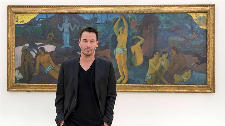 Ein Alleinstellungsmerkmal: Neben vielen Touristen lockte die «Gauguin»-Ausstellung auch Filmstar Keanu Reeves nach Basel.