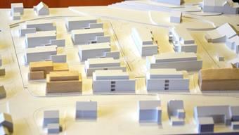 So, wie auf dem Modell zu sehen, soll sich das Areal im Unterdorf mit den neuen Wohnbauten künftig präsentieren.