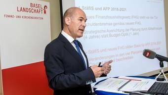 Finanzdirektor Anton Lauber präsentiert den Aufgaben und Finanzplan 2018 bis 2021.