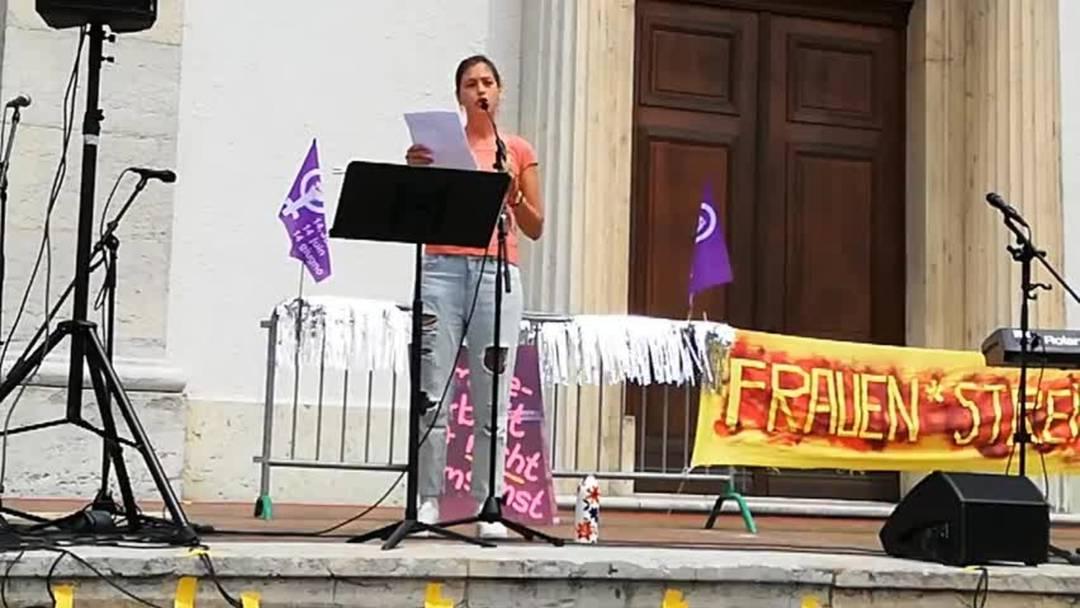 Der Auftritt von Lisa Christ am Oltner Frauenstreik