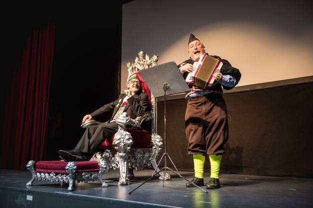 Grenchner Fasnachtsplausch 2018, Ehren-Obernarr Heinz Westreicher, die Stadtratten und Urs Wirth