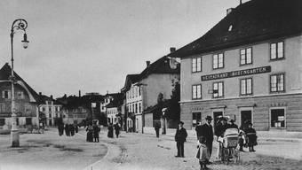 Rosengarten-Liegenschaft heute und ein Jahrhundert früher