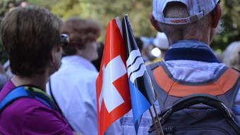 Impression von der letztjährigen 1.-August-Wanderung im Aargau.