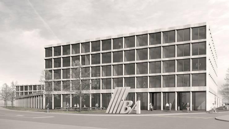 Das Siegerprojekt für den neuen IBA-Werkhof an der Industriestrasse, 350 Personen werden hier arbeiten.