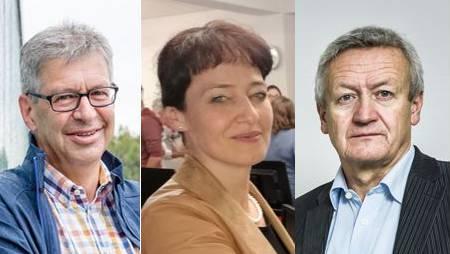 Wollen Ammann bleiben: Daniel Mosimann, Ruth Imholz Strinati, Ruedi Hediger.