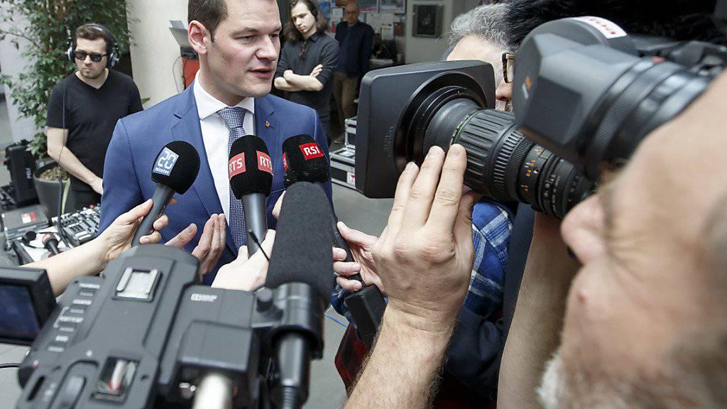 Pierre Maudet (FDP) schaffte in Genf als einziger Kandidat beim ersten Wahlgang die Wiederwahl in die Regierung.
