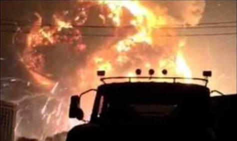 Massive Explosion in Chinas Grossstadt Tianjin