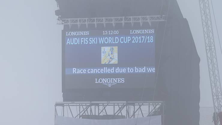 Die Kombination in St. Moritz versinkt im Nebel