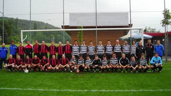 4:1 für die Polizei: Das Team der Kantonspolizei (links) besiegte den FC Eiken. (hot)