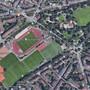 Lageplan der Sportanlagen entlang der Basler Schützenmatte. (Google Maps)