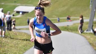 Martina Strähl auf dem Weg zum siebten Triumph in Adelboden.