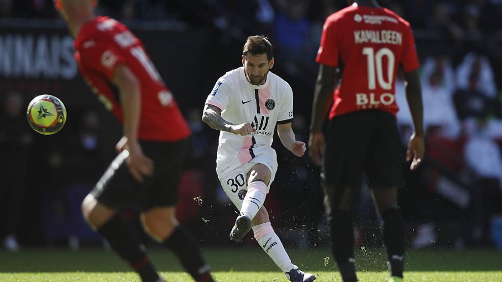 Lionel Messi trifft das Tor auch gegen Stade Rennes nicht