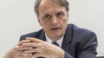 Mario Gattiker war einer der Teilnehmer der prominent besetzten Diskussionsrunde im Basler Rathaus.