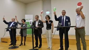 Oltner FDP lud die fünf Regierungsratskandidaten der FDP zum Hearing ein