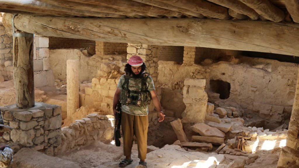 IS-Kämpfer im Kloster Mar Elian in Karjatain