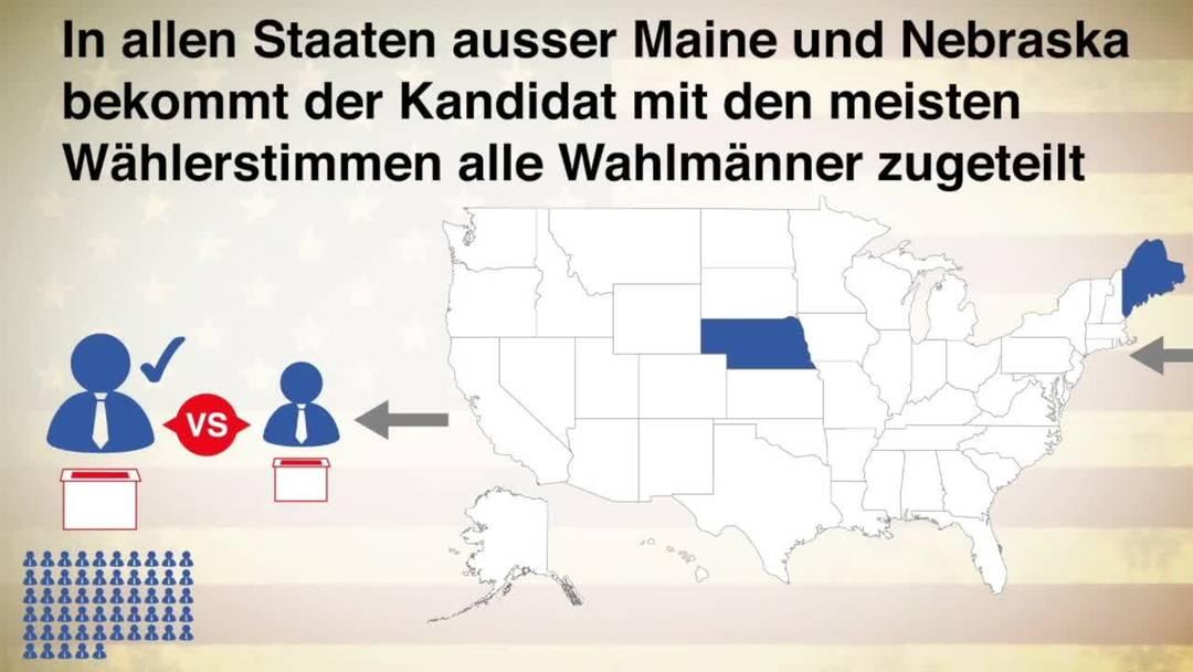 Erklärvideo: So wählen die USA ihren Präsidenten
