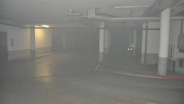 Das Untergeschoss ist voller Rauch.