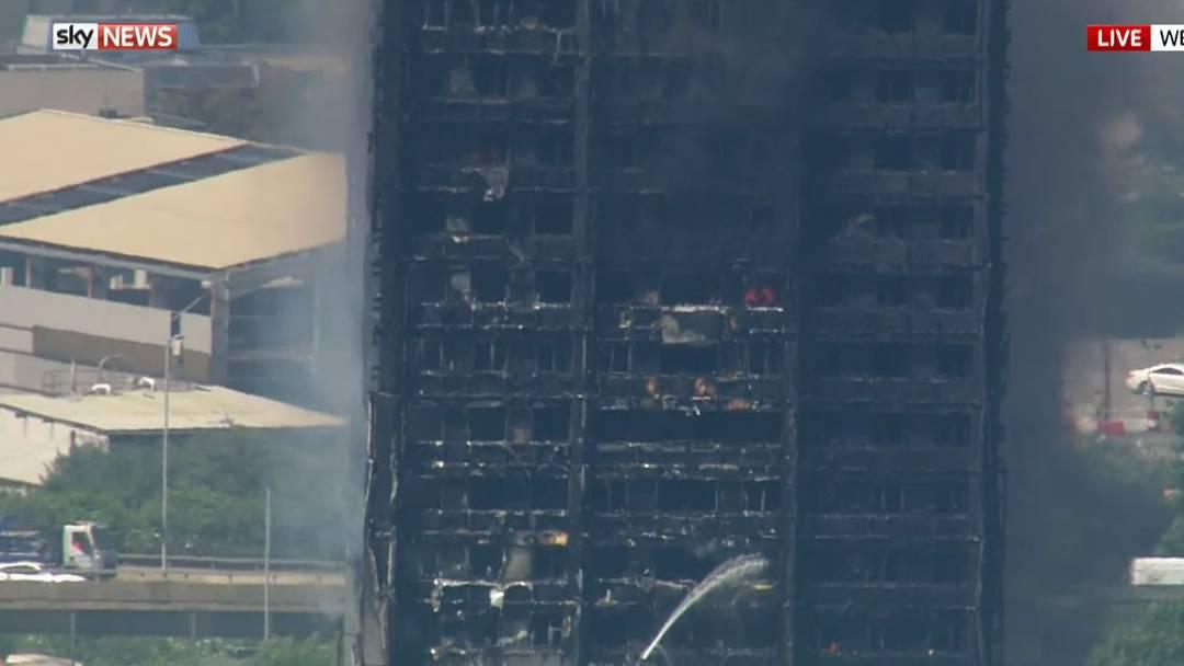 Sky News-Livestram zum Hochhaus-Inferno