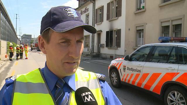 Wohnungsbrand an der Hinteren Bahnhofstrasse, Interview mit Roland Pfister