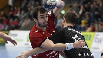Der HSC Suhr Aarau verliert das Spiel gegen den Tabellen-Nachbar Wacker Thun.