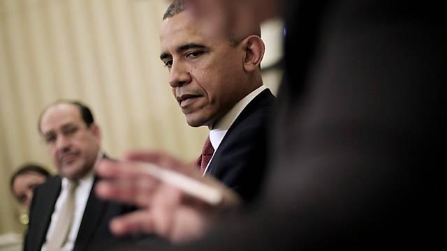 Obama und Maliki (l.) im Oval Office des Weissen Hauses