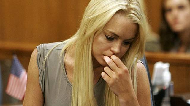 Lindsay Lohan im Gerichtssaal am 2. August (Archiv)