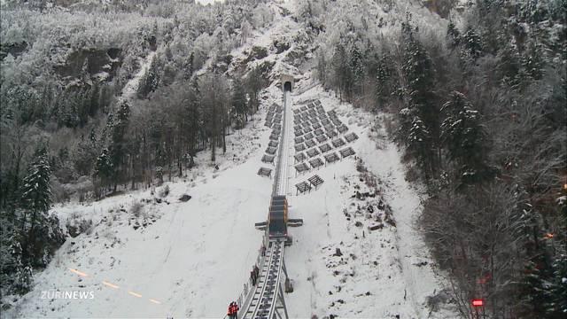 Steilste Standseilbahn der Welt am Stoos eingeweiht