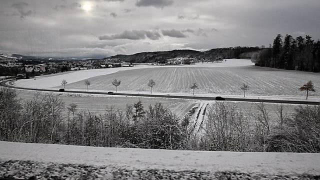 Blick aufs Mittelland bei Lenzburg