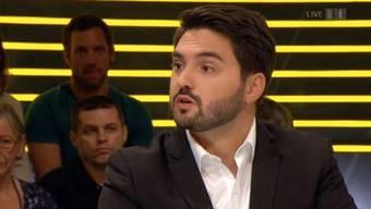 Zwei Damen setzten dem Aargauer SP-Nationalrat Cédric Wermuth während der Sendung zu.