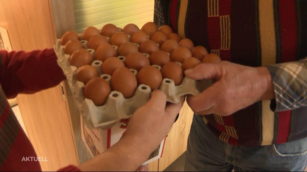 Absatz eingebrochen: Bauer bleibt monatlich auf 900 Eiern sitzen