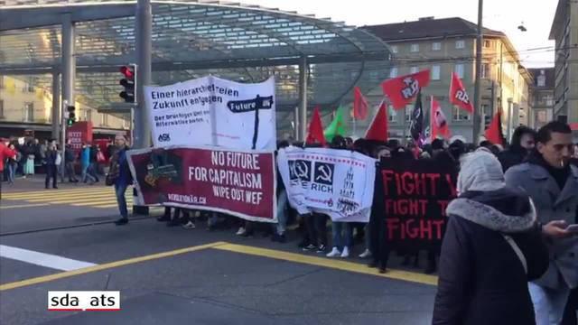 Rund 1500 Personen an Anti-WEF-Kundgebung in Bern