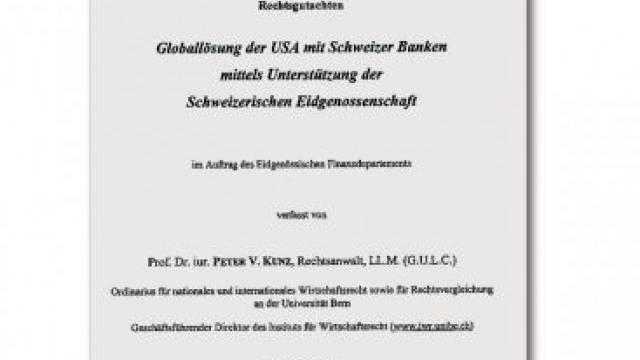 Das Gutachten von Peter V. Kunz vom 14. Mai.