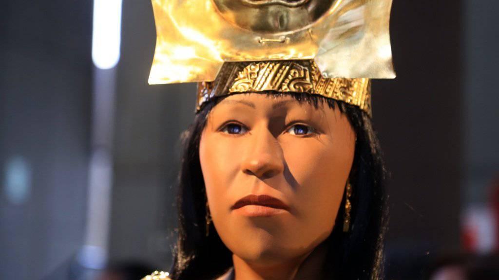 So hat die sogenannte Fürstin von Cao in Peru einst ausgesehen. Ihr Gesicht wurde mit 3D-Technik und anhand mumifizierter Überreste hergestellt.