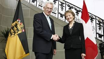 Winfried Kretschmann mit Eveline Widmer-Schlumpf