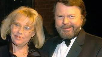Abba-Sänger Björn Ulvaeus mit seiner Ehefrau (Archiv)