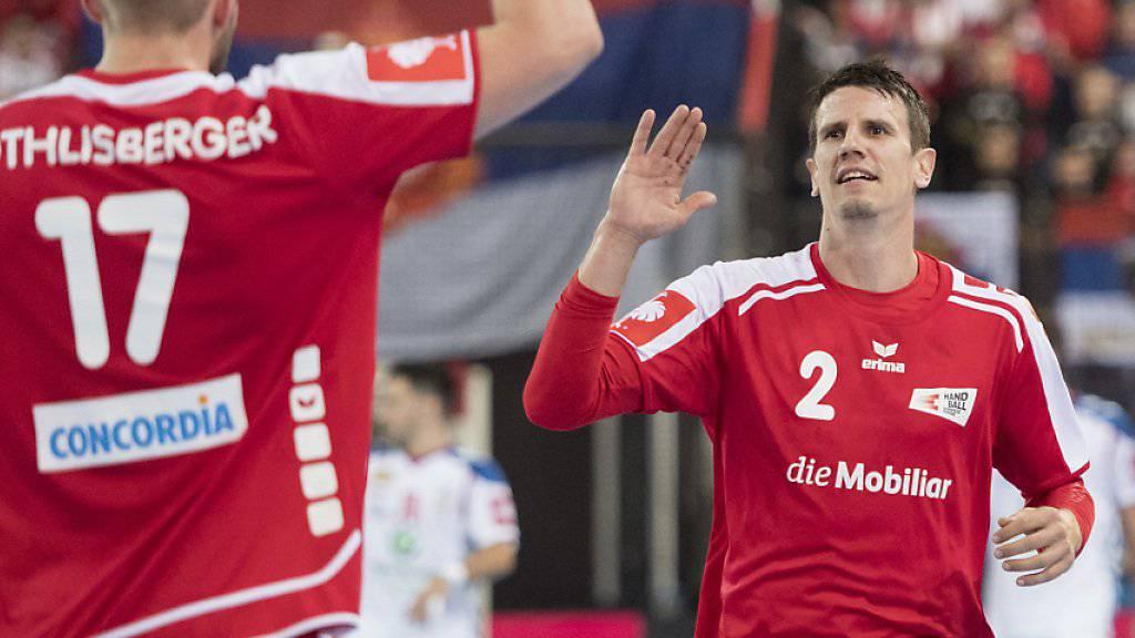 Die Schweizer Handballer wahrten sich mit einem Unentschieden am Yellow-Cup alle Chancen