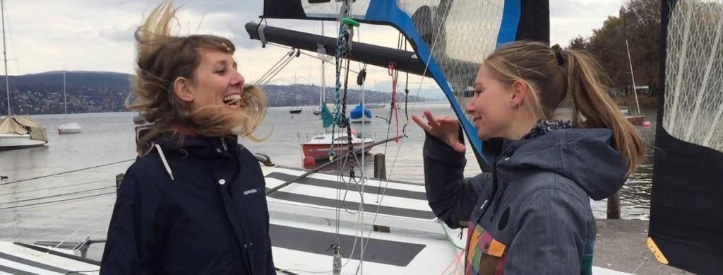 Livia und Nelia trainieren seit eineinhalb Monaten gemeinsam (© zVg)