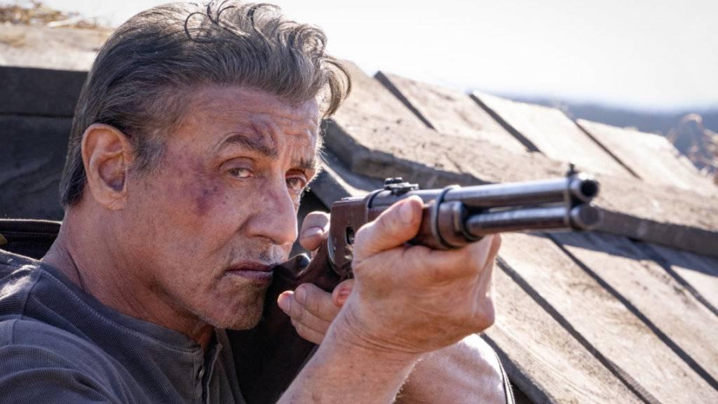 """Sylvester Stallons """"Rambo V: Last Blond"""" hat am Wochenende vom 19. bis 22. September 2019 mit nur knapp 9300 Eintritten die Spitze der Deutschschweizer Kinocharts ergattert."""