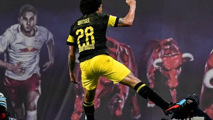 Axel Witsel schoss Leader Dortmund beim Auftakt in die Rückrunde in Leipzig mit dem einzigen Treffer der Partie zum Sieg