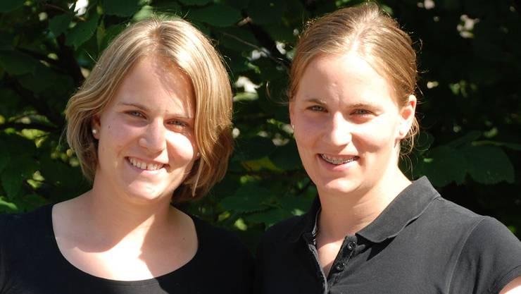 Bereit für Schweden: Stefanie (links) und Julia Marty. lmu