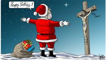 Diese Karikatur von Silvan «Swen» Wegmann erschien am Weihnachtstag und löste einige heftige Reaktionen aus.