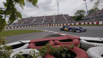 Felipe Nasr baute im Sauber beim Aufwärmen der Reifen einen Unfall