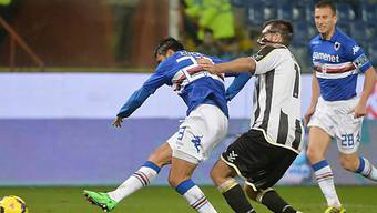 Eder erzielt sein erstes von zwei Toren gegen Udinese