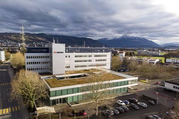 Das Hauptgebäude der Crypto AG in Steinhausen ZG.