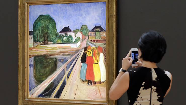"""Edvard Munchs """"Mädchen auf der Brücke"""" wechselt für 54,5 Millionen Dollar den Besitzer. (Archivbild)"""