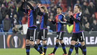 Achtelfinal-Hinspiel des FC Basel zuhause gegen den FC Sevilla